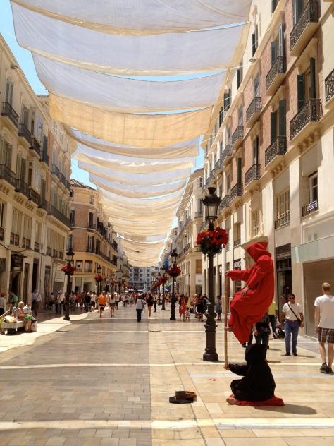 Show de ilusionismo na rua - Málaga, Espanha